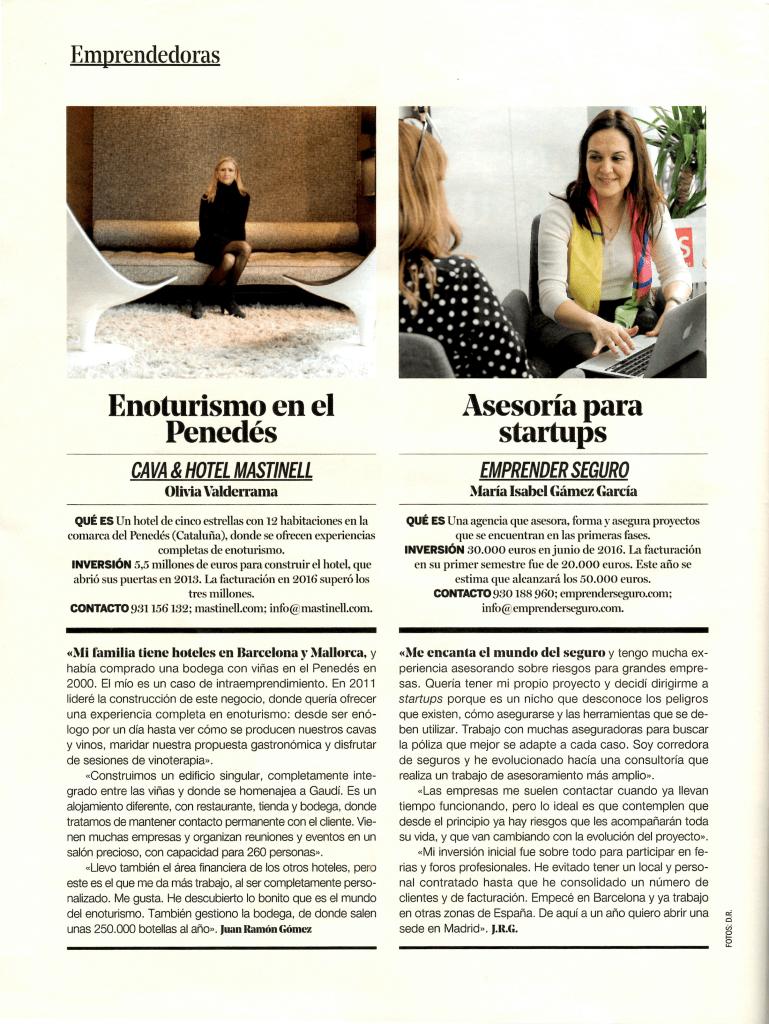 Artículo en revista Yo Dona