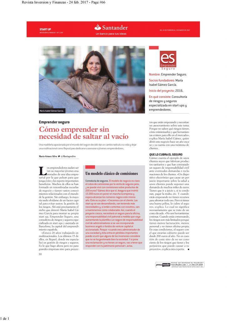 Revista Inversión y Finanzas, 24-02-2017